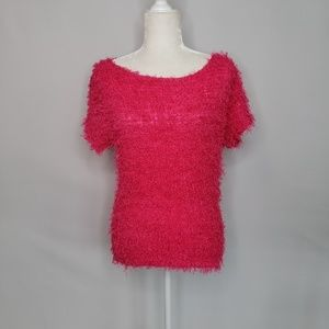 Valentine Bright Pink Fury Top One Size